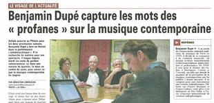 """La presse sur les ateliers """"Comme je l'entends""""About workshops """"As I hear it"""""""