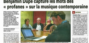 "La presse sur les ateliers ""Comme je l'entends""About workshops ""As I hear it"""